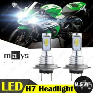 2x-H7-LED-Headlight-Bulb-35W-6000K-White-Kawasaki-Ninja-ZX10R-2004-2015-4000LM