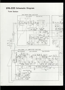 rare original factory sony str 222 am fm stereo receiver schematic rh ebay com Refrigerant Receiver Diagram Receiver Diagram Keysight