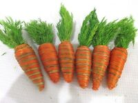 Easter Natural Looking Carrots Bowl Basket Filler Decorations Qty Of 6