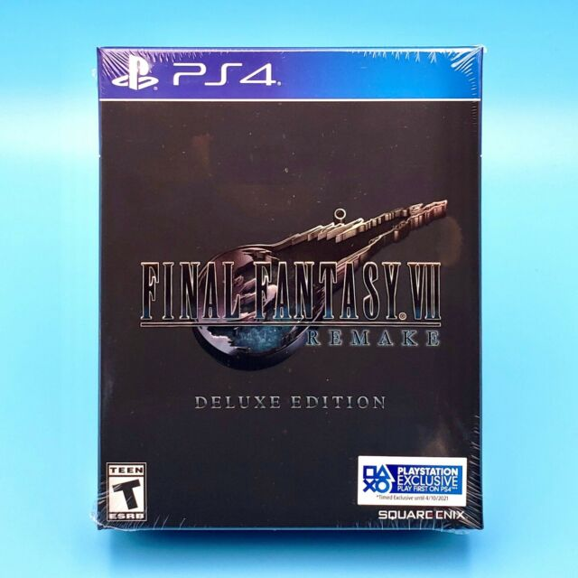 Final Fantasy VII Remake Deluxe Edition w/ Steelbook Case (PlayStation 4, PS4)
