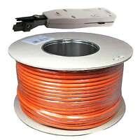 200m Cat.7 Verlegekabel Netzwerk Kabel Lan Gigabit Pimf Lsa Anlegewerkzeug 200