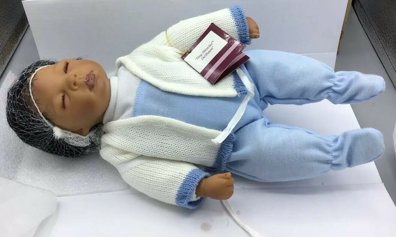 "Original Ashton Drake 'Tiny Miracles' DeShawn African-American 10"" Baby Boy"