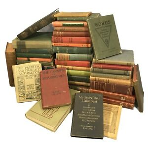 Vintage-antique-Books-Lot-of-10-Random-unsorted-mixed-wholesale-crafts