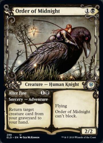 Order of Midnight x4 4x Showcase Throne of Eldraine NM MTG