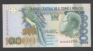Thomas /& Prince 10000 Dobras Uncirculated Note 2004 St