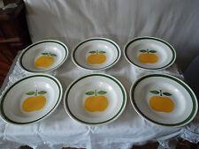 6 assiettes creuses orchies moulin des loups décor golden  6 soup plates
