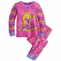 Disney Store Princess Tangled Rapunzel 2 Pc Long Sleeve Pajama Set Girl 5 6 7