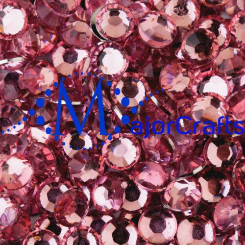 3000pcs Pale Pink 2mm ss6 Flat Back Resin Rhinestones Nail Art Craft Gems C03