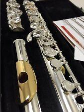 NEW Gemeinhardt 3O Silver-plated Flute, GOLD LIP, Open-Hole C-foot, offset G, 30