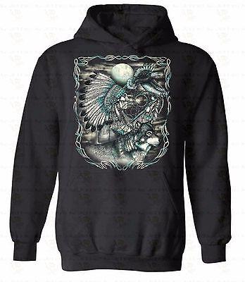 Dreamer Dream Catcher HOODIE Sweatshirt Sweater Hooded Native American Feathers