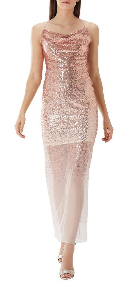 Coast - Tizzy Sequin Maxi Dress - Colour bluesh - Size 18 (Brand New With Tag)