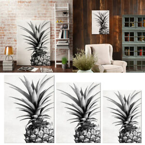Unframed Black And White Pineapple Canvas Painting Living Room Wall Decor Ebay