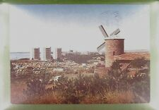 CPA Bulgaria Slantschev Brjag Windmill Moulin Windmühle Costume Folklore w282