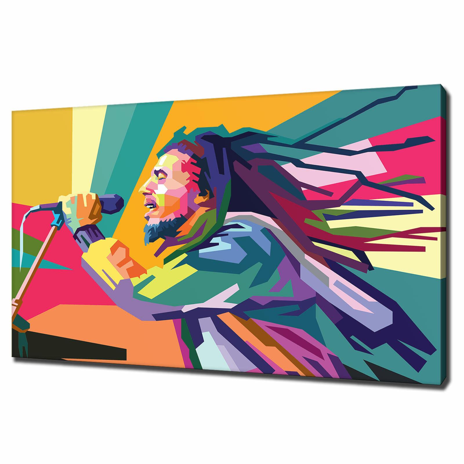 Bob Marley pop art canvas print PICTURE Wall Art varietà di formati GRATIS P&P