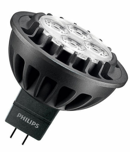 10X Philips Master LED MR16 (GU5.3) 7W DIMMABLE in 3000K RETROFIT 60D 440 lumens