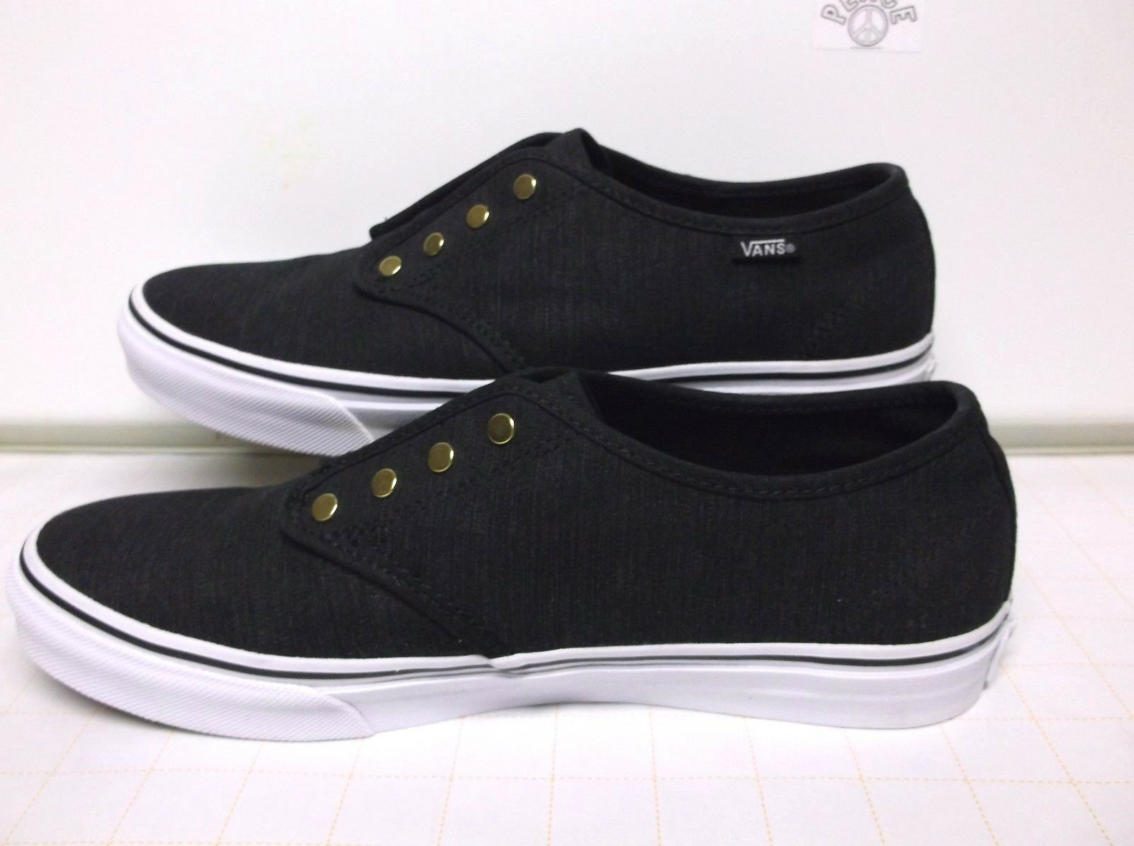 97c20ed83 VANS OFF THE WALL Skate Shoes Low Top Top Top Black..Womens...Size 10 35b284