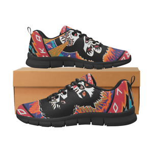 best loved e8055 a05e6 Details about Women's Custom Kiss Rock Print Lightweight Breathable  Sneakers Running Shoes