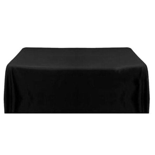 57/'/' Tablecloth Square Satin Banquet Table Cover For Wedding Party Black