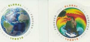USA-Global-Round-Forever-Stamps-Set-of-2-4740-and-4893-Mint-NH-2013-2014
