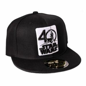 official star wars 40th anniversary symbol black snapback cap new