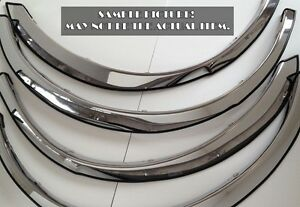 Used-Chrome-Stainless-Steel-Fender-Trims-FOR-2014-2015-Chevy-Silverado-1500