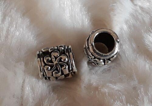 5//10//15 Rondell Beads großloch Perles Paracord Bracelet großloch Perles b100