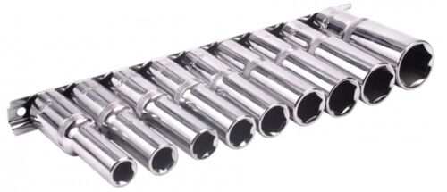 9 Pc  1/2 Drive Deep Socket Set [BS01541] 10, 11, 12, 13, 14, 15, 17 ,19 & 22mm