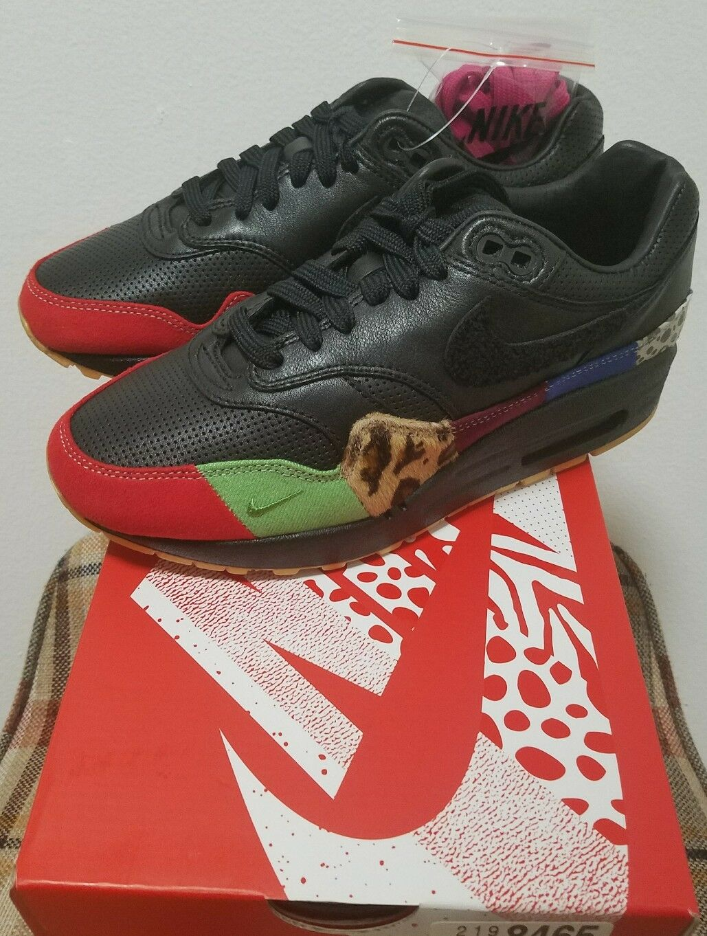 official photos 96ffd 78a4e ... Nike Air Max 1 Master comodo Wild Wild Wild Casual Shoes f4fc63 ...