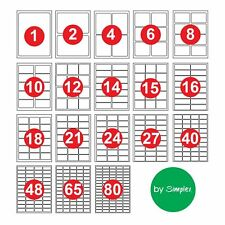 New Address Labels A4 Sheets Sticky Self Adhesive For Inkjet Laser Printer