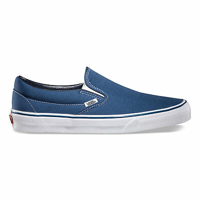 Vans Slip-On NAVY Canvas Classic Shoes All Size Fast Shipping