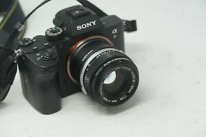 SONY E MOUNT ADAPTED 50MM F1.8 OLYMPUS ZUIKO PRIME LENS ALL A7 NEX,A6000