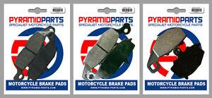 Front & Rear Brake Pads (3 Pairs) for Kawasaki ER-6n 650 06-08