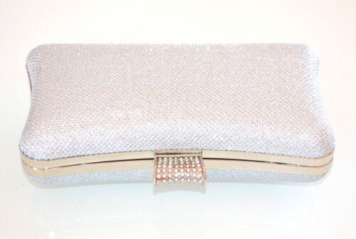 Bag Femme Pochette Strass Mariage Сумка Clutch Sac Élégant Cérémonie E160 Argent x5X6wdA