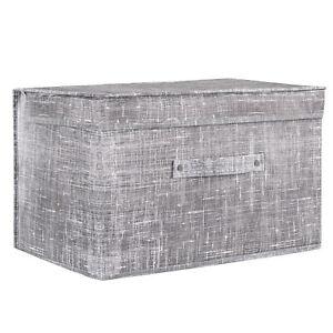 Aufbewahrungsbox Spielzeugkiste Kiste Faltschachtel Korb Grau Blau Grun Rosa Ebay