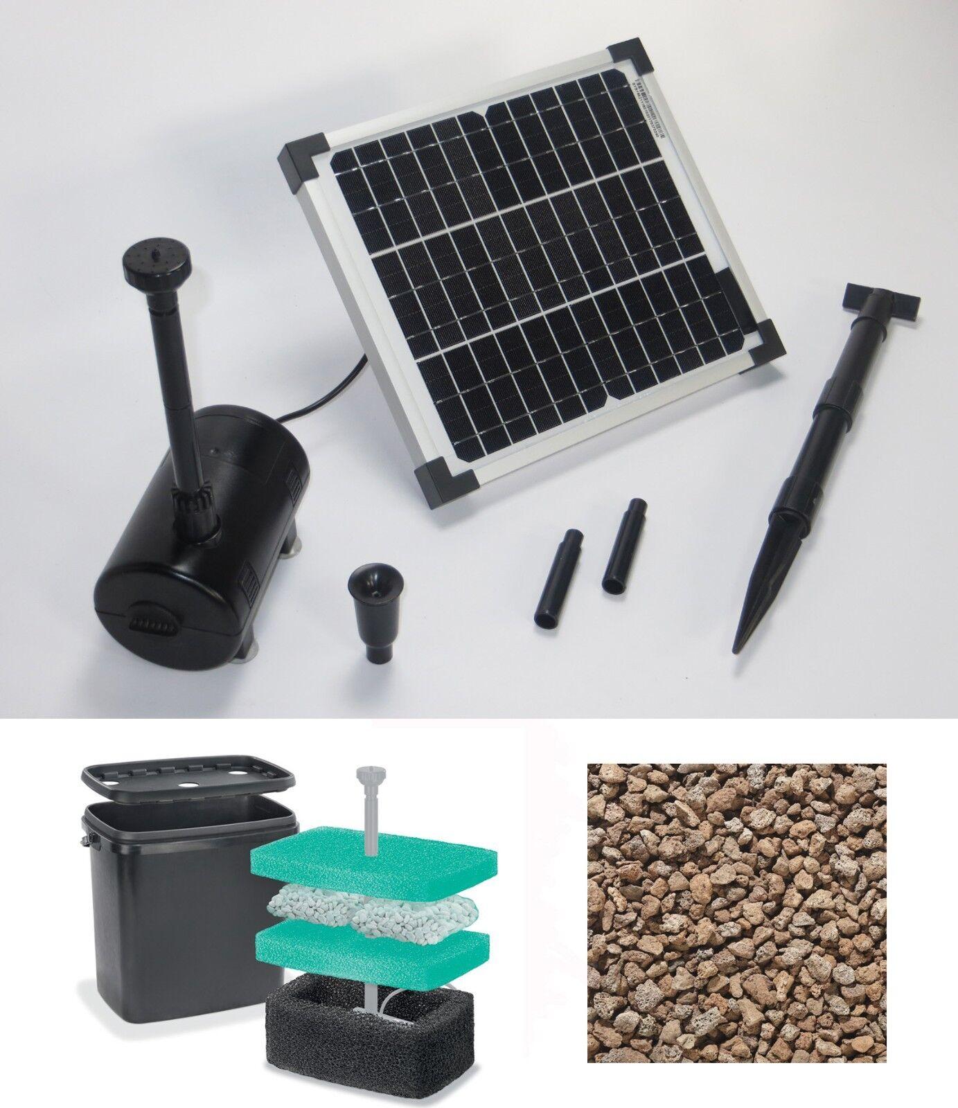 10 Pompa da Stagno Solare Immersione Giardino Filtro Fontana a Getto Nuovo