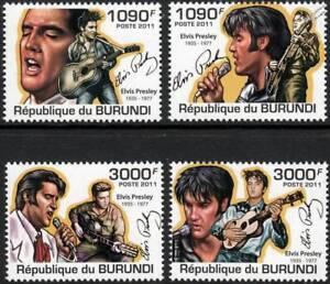 Qualifié Elvis Presley Tribute Singer/guitare/rock & Roll Music Stamp Set (2011 Burundi)-rock & Roll Music Stamp Set (2011 Burundi)fr-fr Afficher Le Titre D'origine