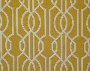 Magnolia Home Deco Barley Yellow Ivory Trellis Lattice Fabric By The