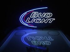 Budweiser Neon Beer Light Sign & Miller Lite Bud Pabst Coors NFL Coasters