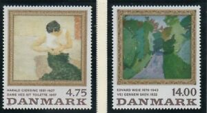 Denmark-Sc-951-952-1991-Paintings-stamp-set-mint-NH