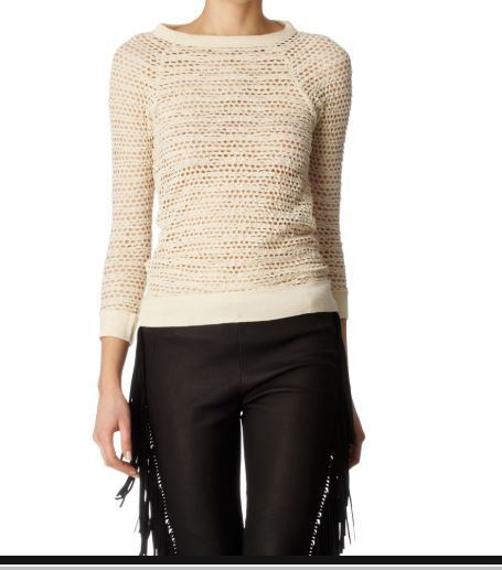 NEW & TAG  Isabel Marant Etoile  MENDY CREAM HOLEY LACE TOP JUMPER  Size 0