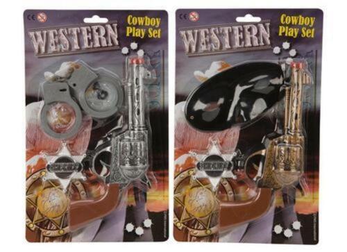 Kids Childs polizia Pistola Giocattolo in plastica shooting fotografico Stocking Filler Play Cowboy