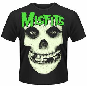 Misfits T Shirt Glow Jurek Skull Official Black Mens Punk Rock Merch Unisex New