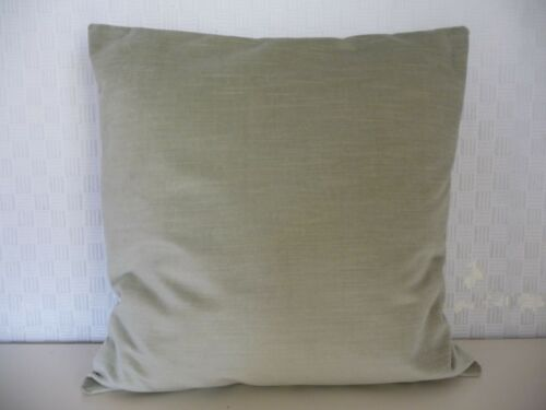 "FRENCH GREY 100/% COTTON VELVET CUSHION COVER /"" NEW /"""