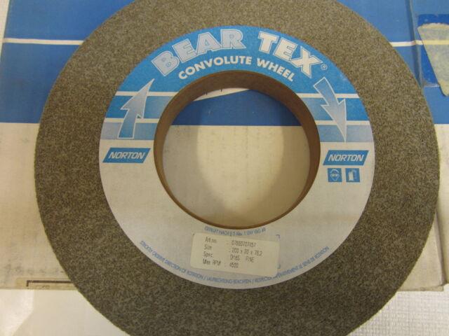NORTON BEAR-TEX CONVOLUTE WHEEL 200 X 20 X76,2 D18S FINE 07660707457