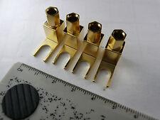 AL 4pcs  Banana Plug   SPADE Adapter Fisher McIntosh Eico Amp Speaker plug New
