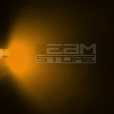 50 pz led FLAT TOP gialli alta luminosità 6.000 mcd 5 mm ART. AH08