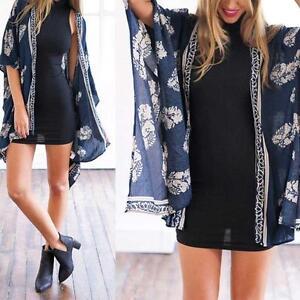 Women-Fashion-Printed-Cotton-slim-fit-Kimono-Cardigan-Blouse-Tops-Beach-Cover-Up