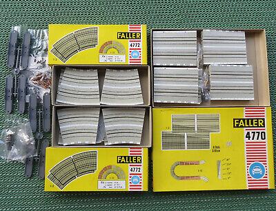 4 x Faller AMS 4772 großer Radius mit OVP Steilkurve