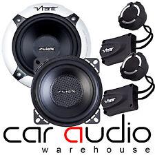 """Vibe Slick 4 Comp 420 Watt a Pair 10cm 4"""" inch Component Car & Van Door Speakers"""