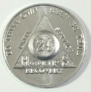 Lot-of-10-Pc-Alcoholics-Anonymous-24-Hour-Aluminum-Coin-Token-Chip-AA-Silver-3